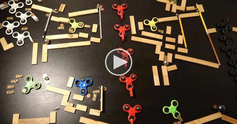 Rube Goldberg Fidget Spinner Memorial