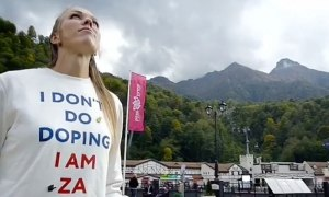 russian athlete filmed in i don t do doping shirt fails olympic drug test Russian athlete filmed in I don t do doping shirt fails Olympic drug test