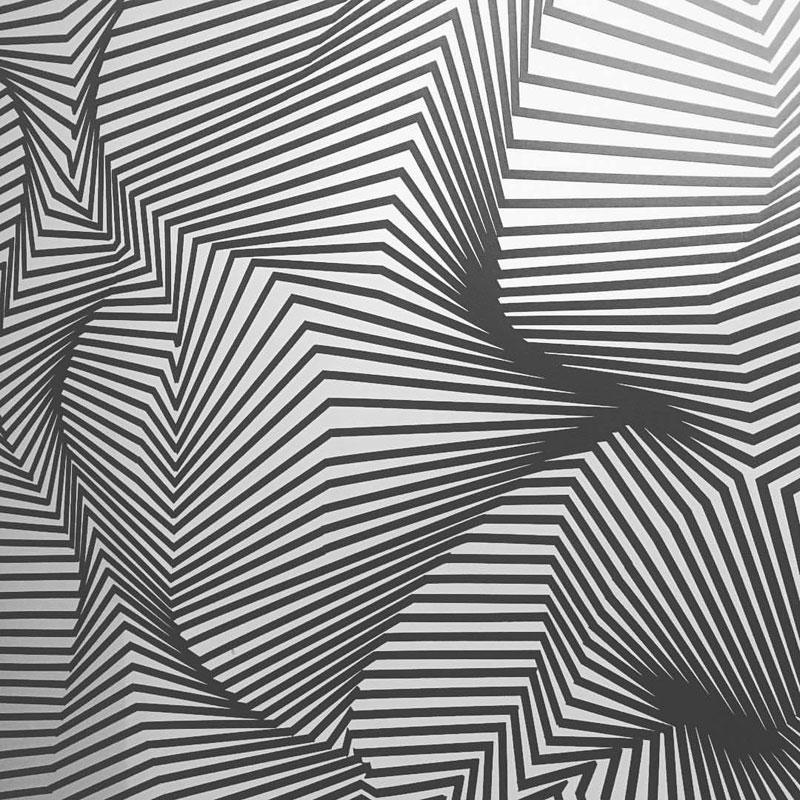 tape art installations by darel carey 1 Mesmerizing Tape Art Installations by Darel Carey