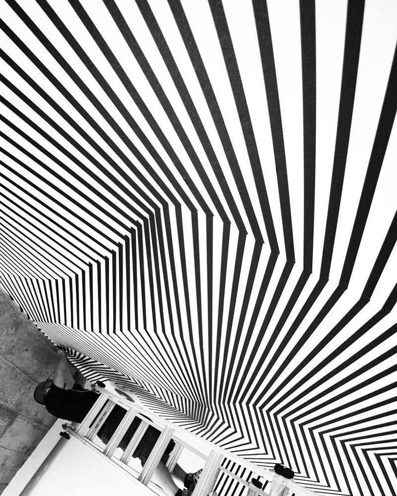 tape art installations by darel carey 3 Mesmerizing Tape Art Installations by Darel Carey