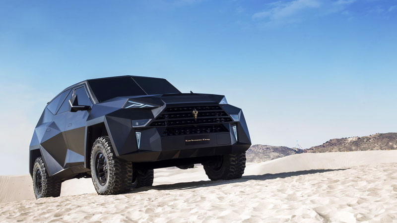 worlds most expensive suv karlmann king 5 The Outrageous SUV Inspired by the Stealth F 117 Nighthawk (21 Pics)