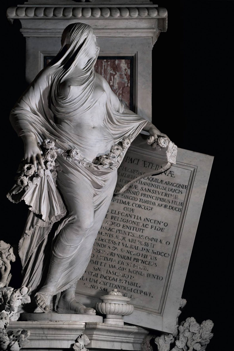 antonio corradini modesty marble sculpture veil 1 This Tiny Chapel is Home to Some of the Greatest Marble Sculptures in History