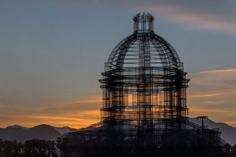 etherea by edoardo tresoldi coachella mesh sculpture 13 The Incredible Wire Mesh Sculptures that Punctuated the Coachella Skyline