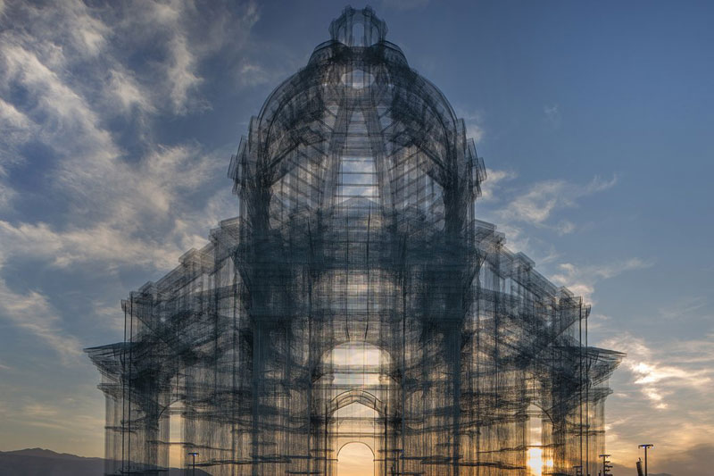 etherea by edoardo tresoldi coachella mesh sculpture 16 The Incredible Wire Mesh Sculptures that Punctuated the Coachella Skyline