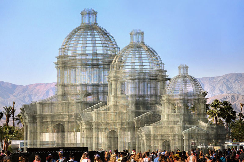 etherea by edoardo tresoldi coachella mesh sculpture 8 The Incredible Wire Mesh Sculptures that Punctuated the Coachella Skyline