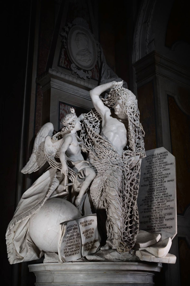 francesco queirol disillusion marble sculpture netting 4 This Tiny Chapel is Home to Some of the Greatest Marble Sculptures in History