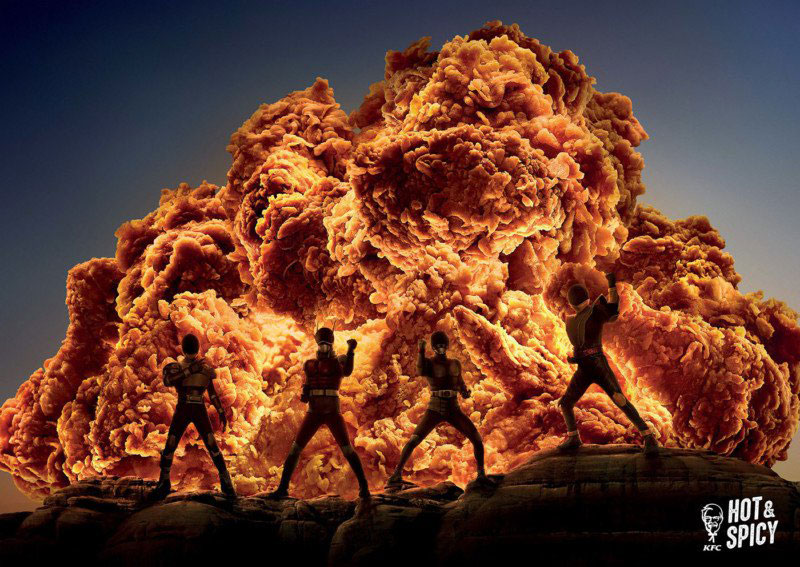 Giant, Fiery Explosions Only It's KFC Fried Chicken
