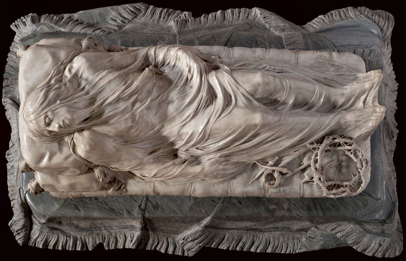 giuseppe sanmartino veiled christ marble sculpture shroud 1 This Tiny Chapel is Home to Some of the Greatest Marble Sculptures in History