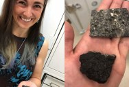 Holding Pieces of the Moon and Mars on Earth