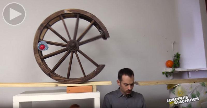 Joseph's Cake Serving Machine Might Be the Wackiest Rube Goldberg Yet