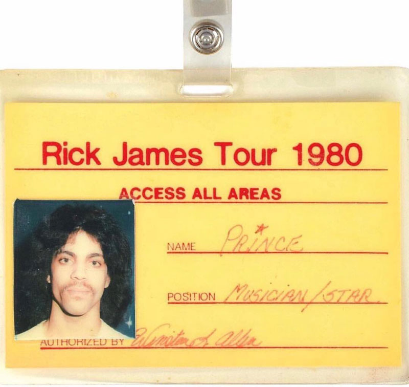 prince rick james tour lanyard opening act 1980 we all start somewhere We All Start Somewhere