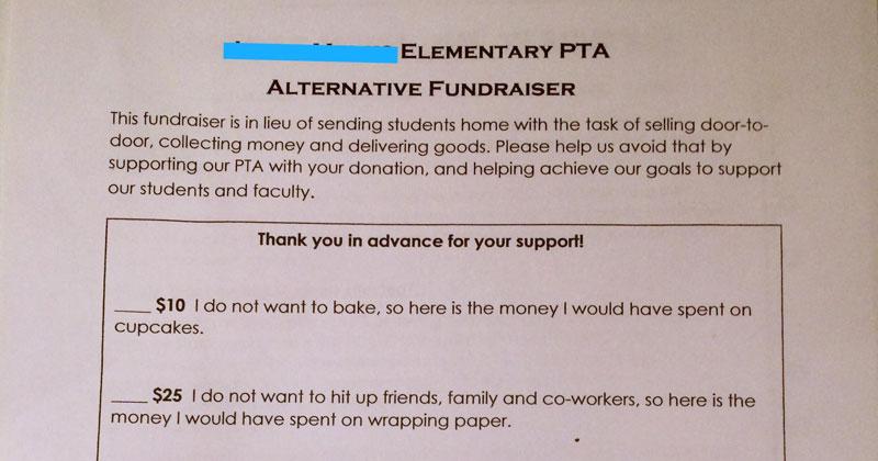 PTA's 'Alternative Fundraiser' Gets Internet Seal of Approval