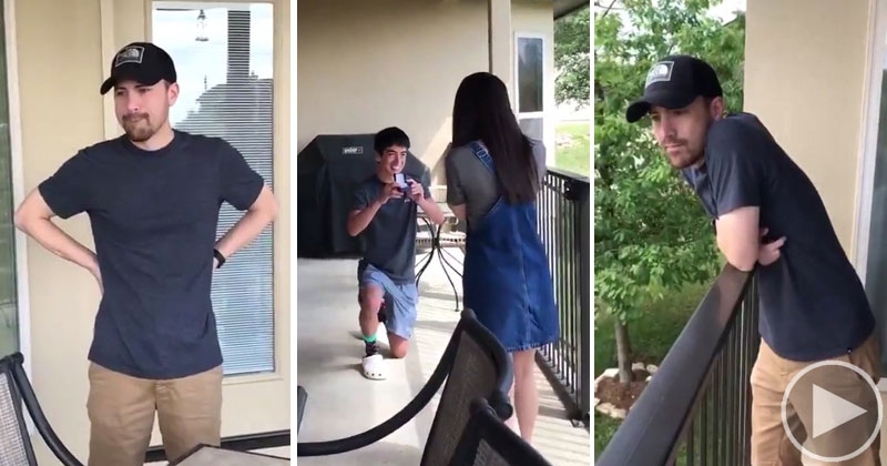 Daughter's April Fools Proposal Gets Priceless Reaction from Dad