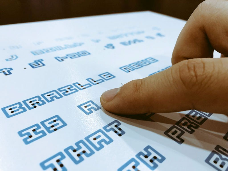 universal typeface braille neue combines braille and english characters by kosuke takahashi 4 Artist Designs Universal Typeface That Combines Braille With English Alphabet