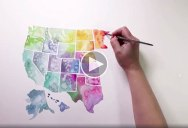 Watercolor USA, A Timelapse