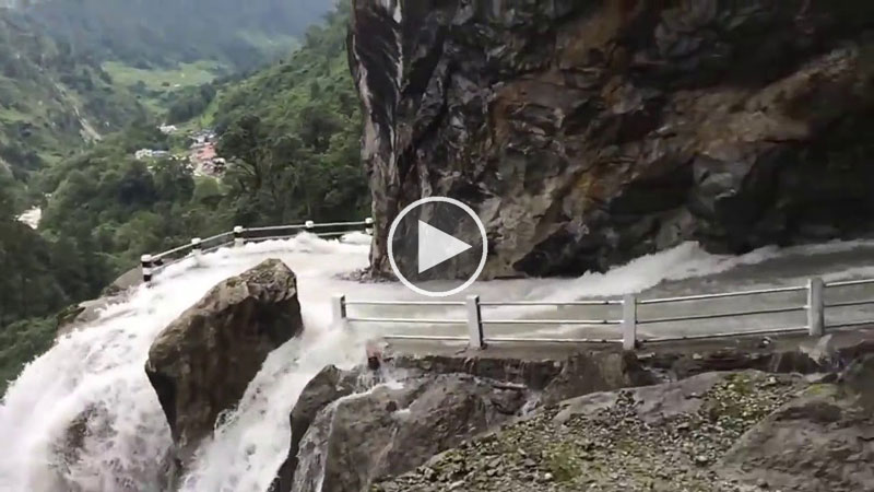 How is Nobody Fazed Driving Down This Crazy Waterfall Road in Nepal?!