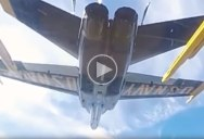 This 360-Degree POV Blue Angel Ride Shows How Insanely Close They Fly Together