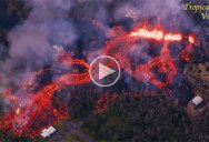 Helicopter Captures Terrifying Fissure Eruptions in Hawaii from Above