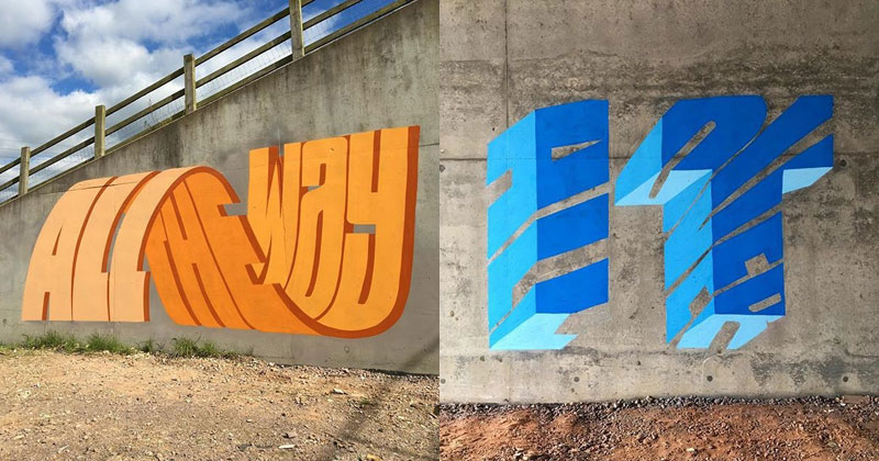 Graffiti Artist Puts Artistic Spin on Word Riddles (17 Pics)