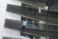 Guy Risks Life and Deportation to Save Baby Dangling Off 4th Floor Balcony