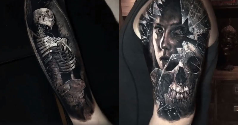 14 Incredibly Realistic 3D Tattoos by Eliot Kohek
