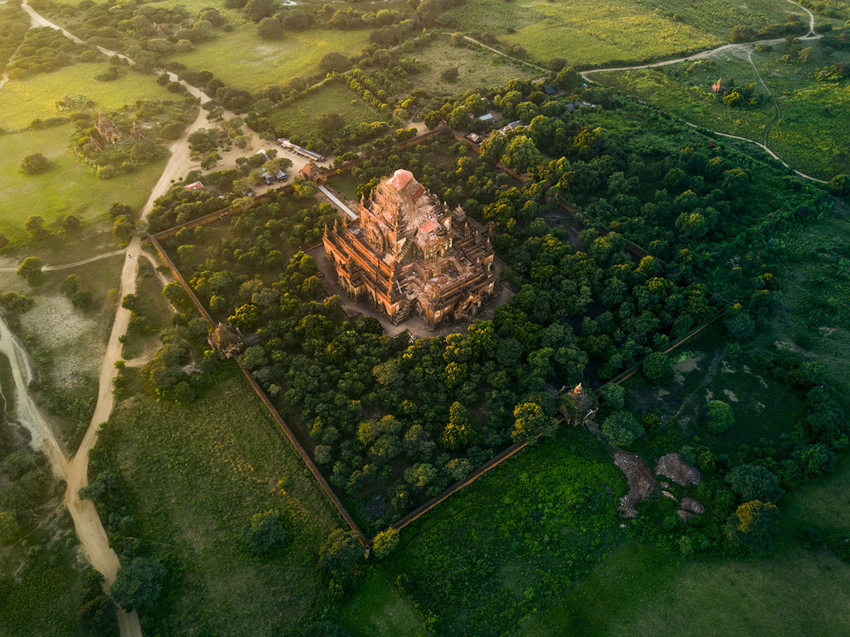 myanmar temples from above by dimitar karanikolov 1 The Amazing Temples of Myanmar from Above (10 Photos)