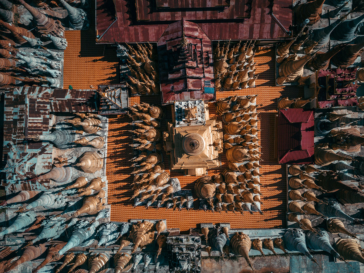 myanmar temples from above by dimitar karanikolov 2 The Amazing Temples of Myanmar from Above (10 Photos)
