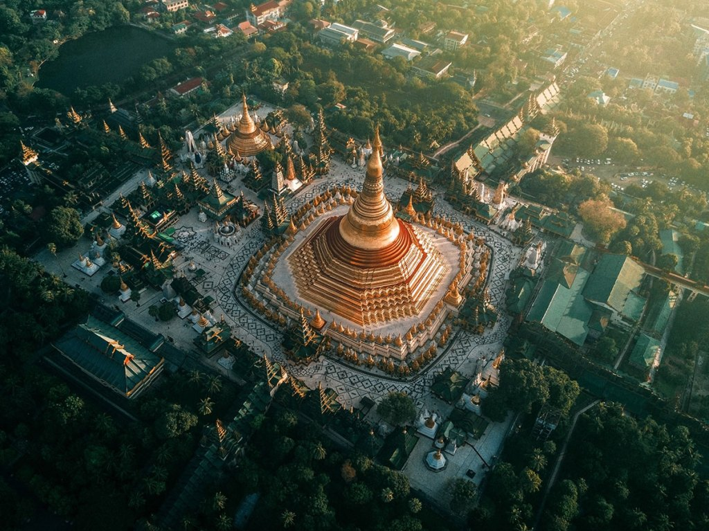 The Amazing Temples of Myanmar from Above (10 Photos)