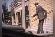 Rare Color Footage from the 1930s of the Tallest Person in Recorded History