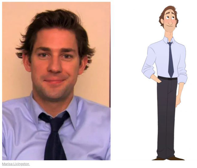 cast of the office as cartoon characters by marisa livingston 11 What Each Character Would Look Like in a Cartoon Version of The Office