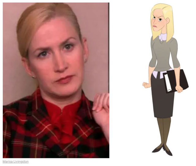 cast of the office as cartoon characters by marisa livingston 14 What Each Character Would Look Like in a Cartoon Version of The Office