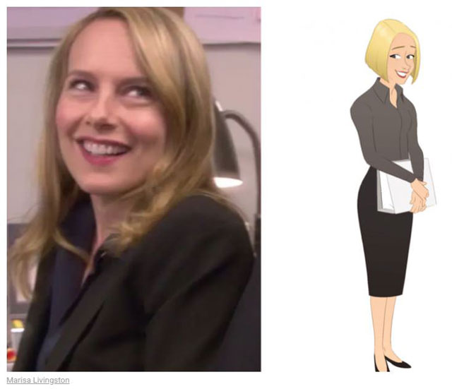 cast of the office as cartoon characters by marisa livingston 21 What Each Character Would Look Like in a Cartoon Version of The Office