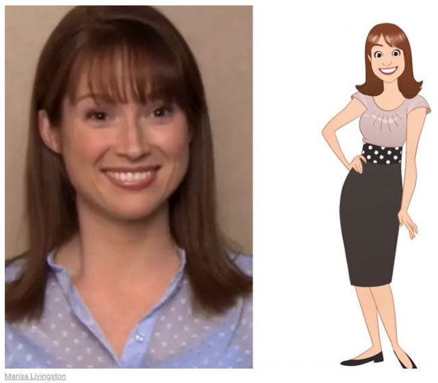 cast of the office as cartoon characters by marisa livingston 5 What Each Character Would Look Like in a Cartoon Version of The Office