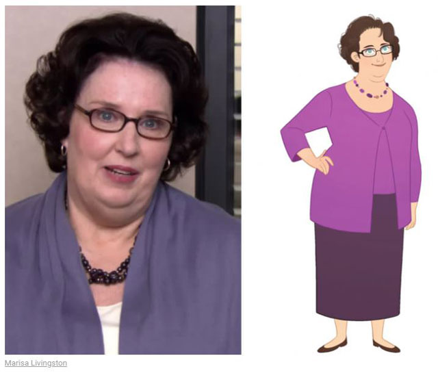 cast of the office as cartoon characters by marisa livingston 8 What Each Character Would Look Like in a Cartoon Version of The Office
