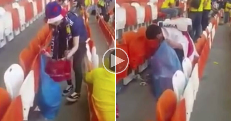 Japanese Fans Clean Stadium After Historic World Cup Win vs Colombia