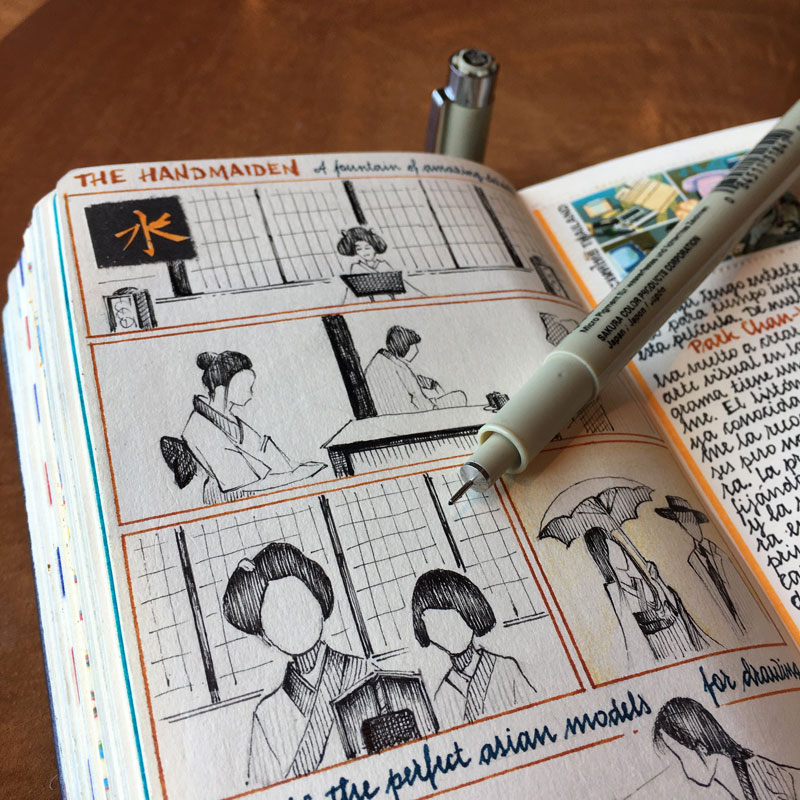 jose naranja sketchbooks gallery 1 This Artist Keeps the Most Beautiful Sketchbooks I Have Ever Seen