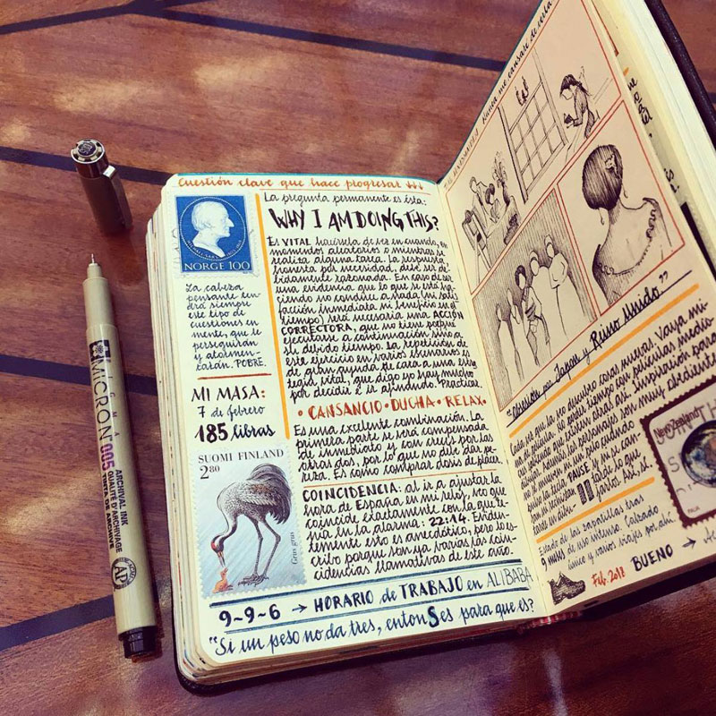 jose naranja sketchbooks gallery 3 This Artist Keeps the Most Beautiful Sketchbooks I Have Ever Seen