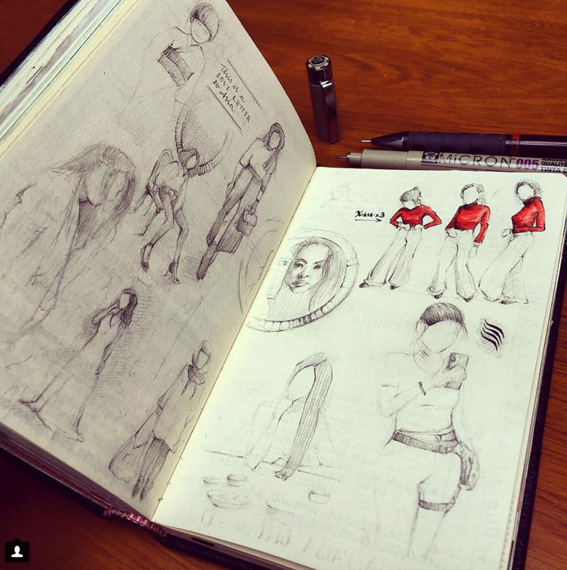 jose naranja sketchbooks gallery 5 This Artist Keeps the Most Beautiful Sketchbooks I Have Ever Seen