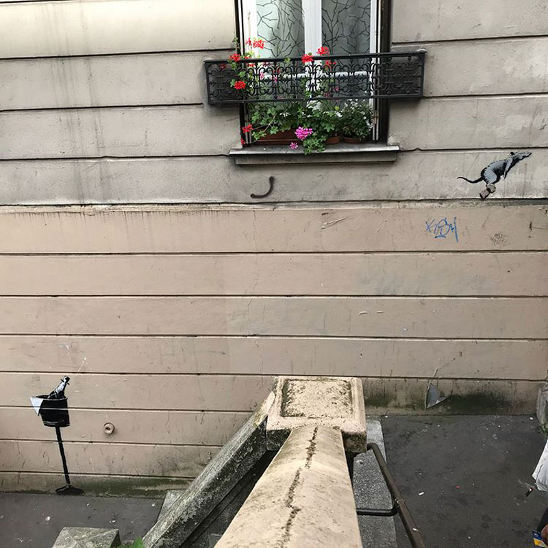 new banksy in paris france 1 Banksy Just Blitzed Paris With At Least 10 New Pieces