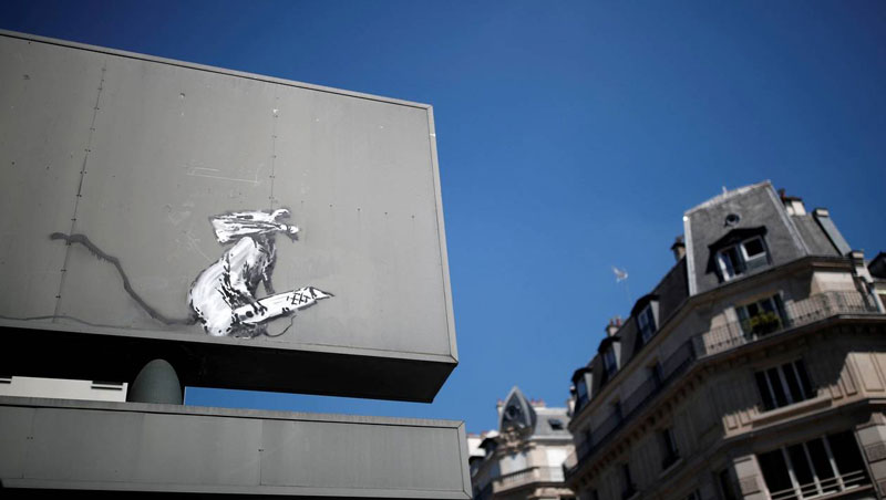 new banksy in paris france 13 Banksy Just Blitzed Paris With At Least 10 New Pieces