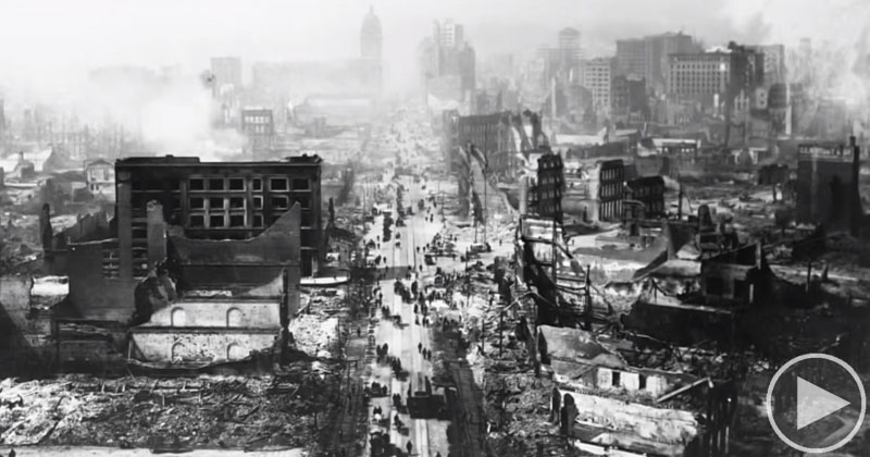 Rare Footage of Market Street After 1906 San Francisco Earthquake Found in Flea Market