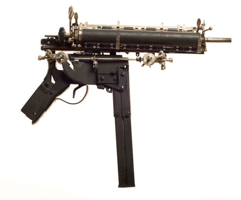 typewriter gun sculptures by ravi zupa mightier than series 2 Sculptural Guns Made from Typewriters Because Words are Mightier