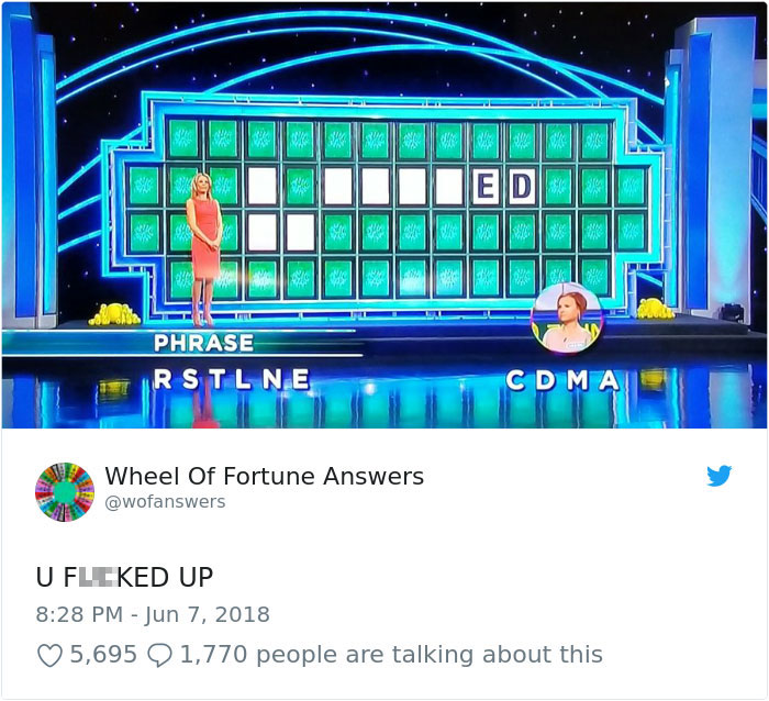 wheel of fortune answers twitter parody account 14 This Wheel of Fortune Parody Accounts Attempts to Solve the Puzzle are Amazing