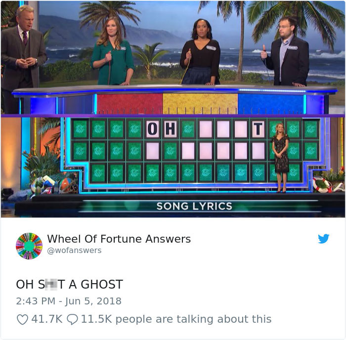 wheel of fortune answers twitter parody account 17 This Wheel of Fortune Parody Accounts Attempts to Solve the Puzzle are Amazing