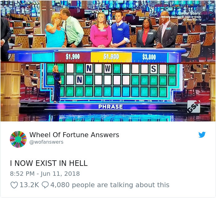 wheel of fortune answers twitter parody account 18 This Wheel of Fortune Parody Accounts Attempts to Solve the Puzzle are Amazing