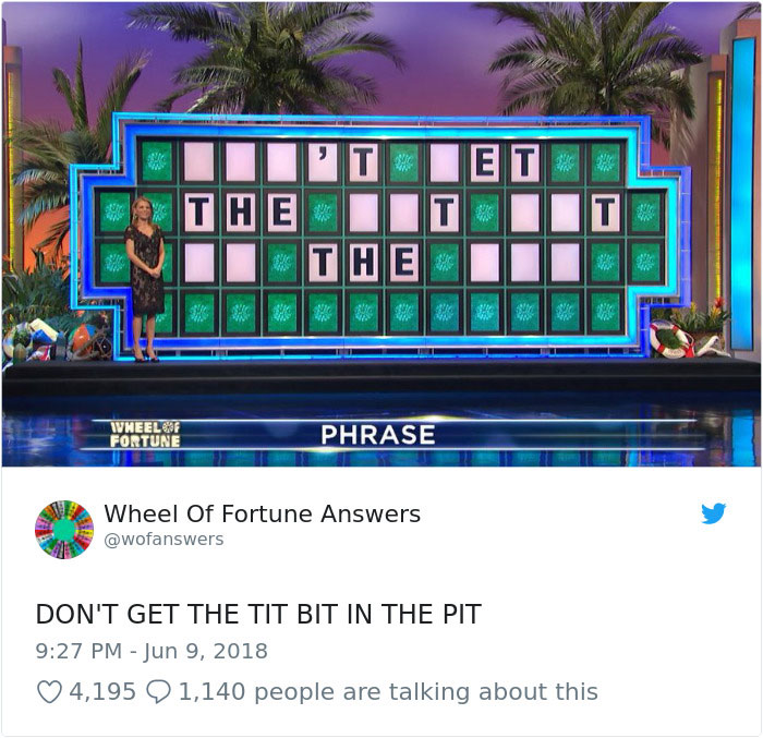 wheel of fortune answers twitter parody account 2 This Wheel of Fortune Parody Accounts Attempts to Solve the Puzzle are Amazing