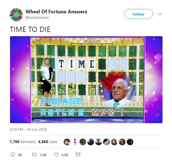 wheel of fortune answers twitter parody account 8 This Wheel of Fortune Parody Accounts Attempts to Solve the Puzzle are Amazing