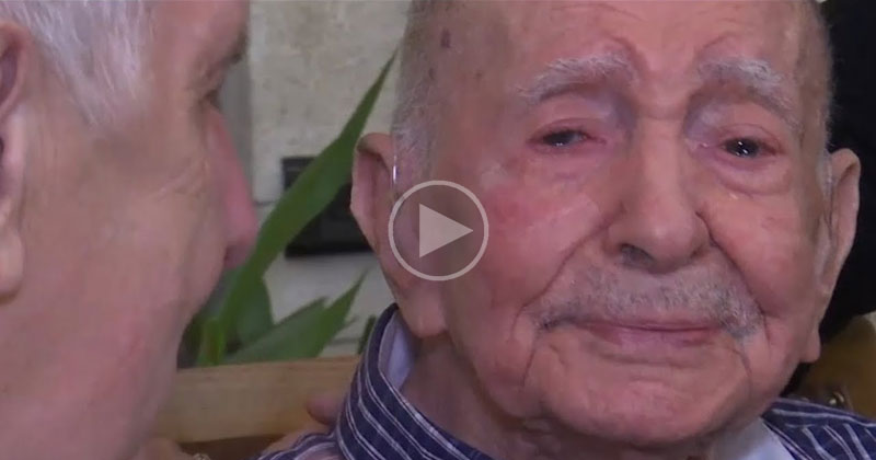 102 Year Old Holocaust Survivor Meets Nephew After Thinking His Entire Family Died