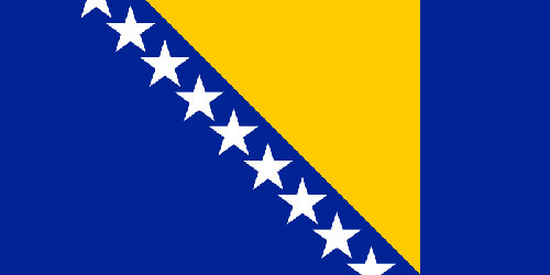 bosnia and herzegovina flag The Location of Every Star on a National Flag [Density Map]