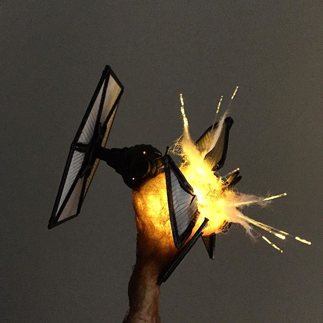 exploding model star wars ships using cotton balls and leds 1 Exploding Model Star Wars Ships Using Cotton Balls and LEDs